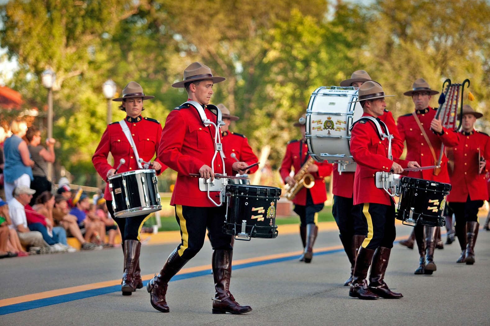 RCMP Sunset Retreat Ceremony (c) Tourism Saskatchewan/Greg Huszar Photography