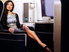 Nicole Scherzinger in der First Class BA (c) Nick Morrish / British Airways