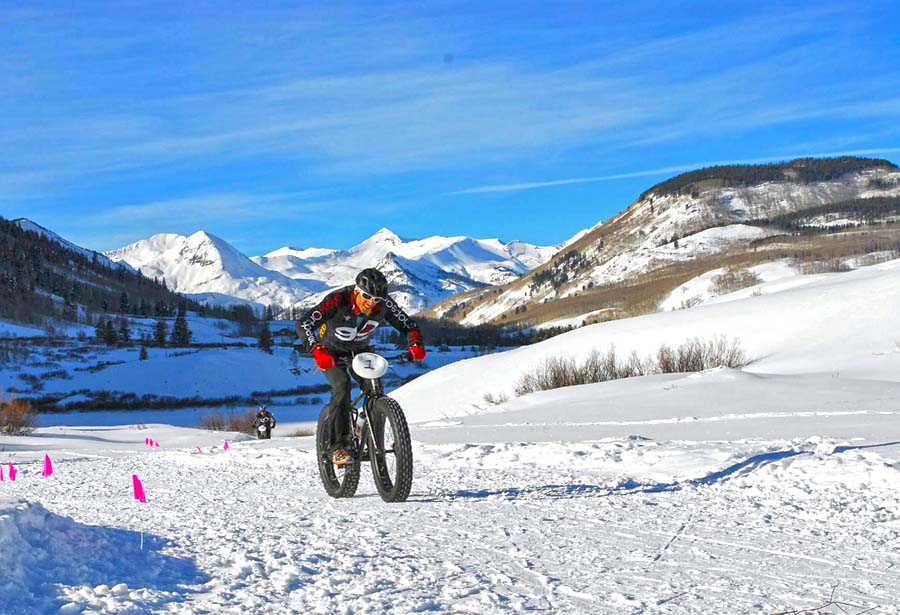 Fat Bike Rennen in Crested Butte (c) Crested Butte Mountain Resort