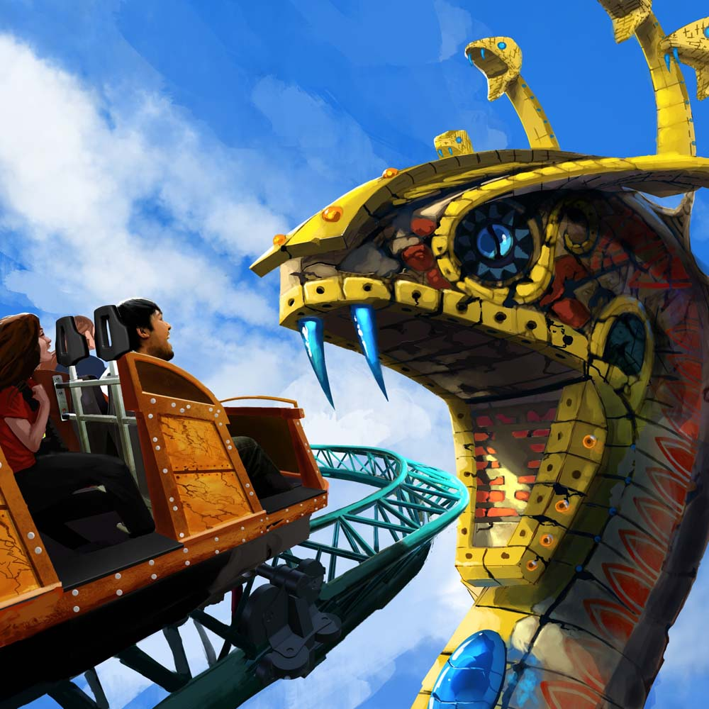 Cobra's Curse (c) SeaWorld Parks & Entertainment