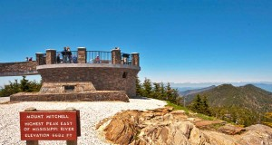 Mount Mitchell Peak Sign and Lookout (c) VisitNC.com - Bill Russ