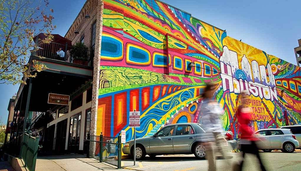 Downtown Houston Mural © Visit Houston