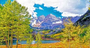 Maroon Bells im Herbst (c) Colorado Tourism Office