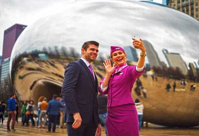 WOW air Crew in Chicago © WOW air